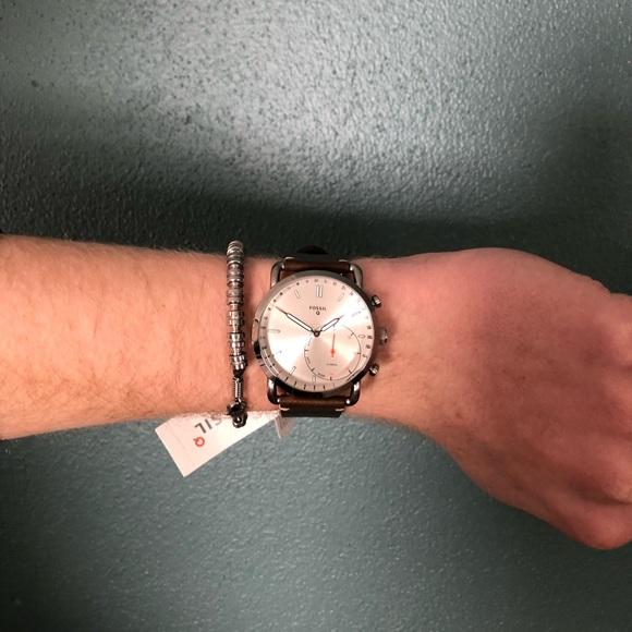 Fossil Accessories Nwt Hybrid Smartwatch Q Commuter Dark Brown